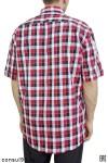 """Рубашка мужская в клетку, короткий рукав, 1 карман, шотландка, """"Эконом"""""""