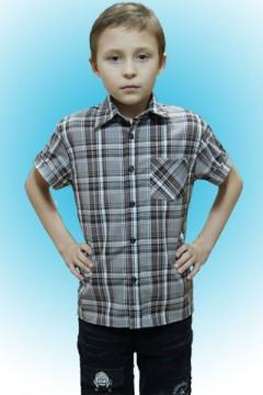 Рубашка детская корот .рукав \шотландка\