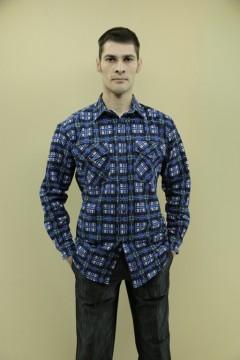 Рубашка муж. 2 кармана\фланель\