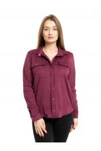 Рубашка женская замшевая