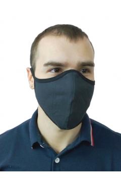 """Маска для лица текстильная """"Бязь"""" чёрные и цветные"""