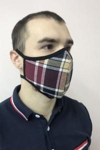 """Маска для лица текстильная """"Шотландка"""""""