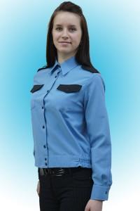 Рубашка женская охранника, длинный рукав, на поясе