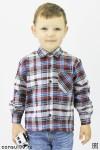 Рубашка детская (подростковая) в клетку, фуле