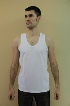 Майка мужская 01, кулирка, средние размеры