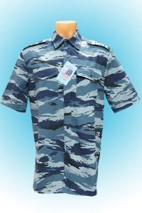 Рубашка охранника ткань-КМФ (серый камыш)