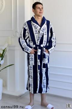 Халат мужской мод.Х-13В, велсофт