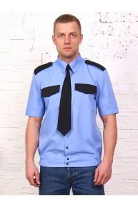 Рубашка охранника короткий рукав, на поясе