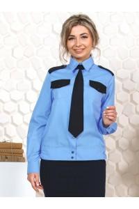 Рубашка охранника женская, длинный рукав, на поясе