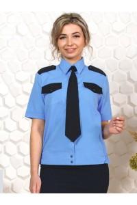 Рубашка охранника женская, короткий рукав, на поясе