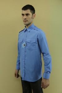 Рубашка охранника длинный рукав, под заправку, однотонная