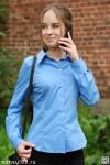 Рубашка женская гладкокрашеная, длинный рукав, офисная