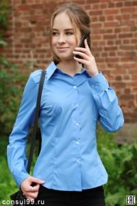 Рубашка женская офисная /смесовка/