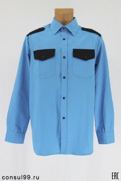 Рубашка охранника бирюза, длинный рукав