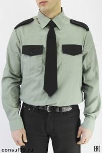 Рубашка охранника длинный рукав, оливковая