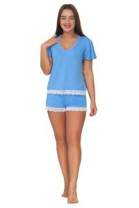 Пижама мод. 10, вискоза, голубой