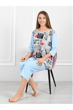 "Пижама мод. ""Парижанка"" светло-голубой"
