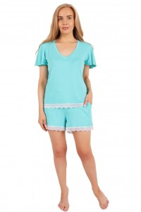 Пижама мод. 10, вискоза, бирюзовый