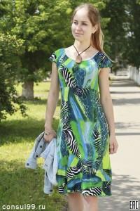 Платье женское мод.01\ кулирка с вискозой\ вискоза\