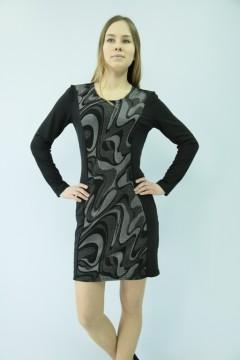 Платье женское мод.10 длин. рук.\жаккард\