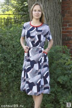 Платье женское мод. 05Р, кулирка