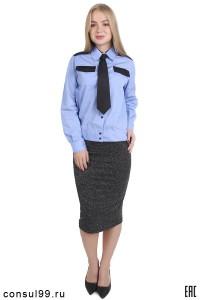 Рубашка охранника женская , длинный рукав, на поясе