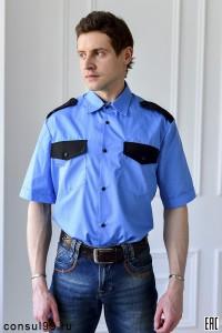 Рубашка охранника короткий рукав, под заправку