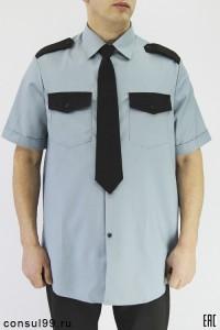 Рубашка охранника короткий рукав, под заправку, серая