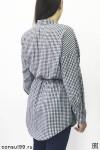 Платье-рубашка женская удлиненная, в клетку