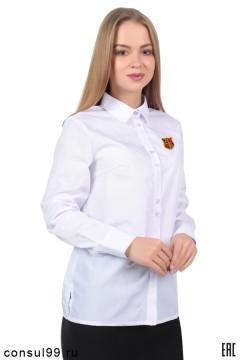 Рубашка женская корпоративная белая (с вышивкой на заказ)