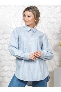 Рубашка женская в клетку оверсайз