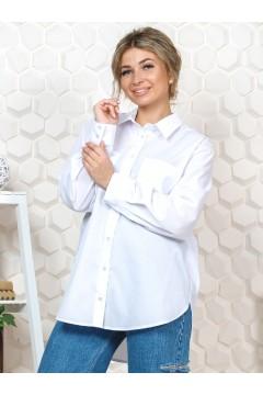 Рубашка женская белая оверсайз