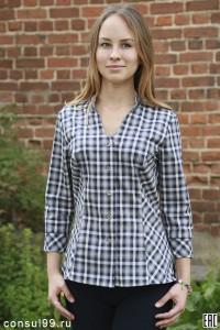 Рубашка женская в клетку, модель 11