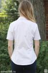 Рубашка женская однотонная х/б 100%, модель 09 без галстука