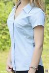 Рубашка женская гладкокрашеная, короткий рукав, модель 12
