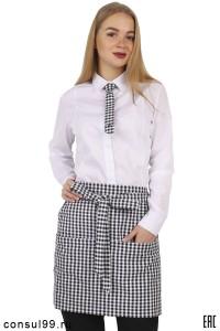 Рубашка женская белая для сотрудников баров, кафе, ресторанов