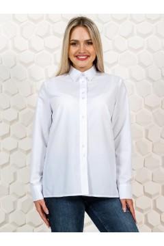 """Рубашка женская белая офисная """"Classic"""""""