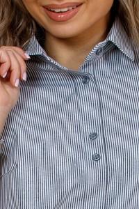 Рубашка женская в клетку,  короткий рукав, модель Скандинавия