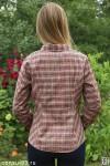 Рубашка женская в клетку, длинный рукав, шотландка, модель 05