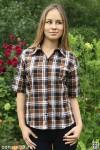 Рубашка женская в клетку, короткий рукав, шотландка
