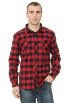 Рубашка мужская в клетку с отделкой