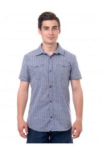 Рубашка мужская в клетку, короткий рукав, шотландка, модель 32, клетка 4
