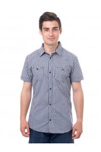 Рубашка мужская в клетку, короткий рукав, шотландка, модель 32, клетка 5