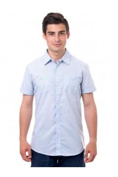 Рубашка мужская в клетку, короткий рукав, шотландка, модель 32, клетка 6