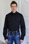 Рубашка охранника длинный рукав, черная