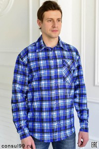 Рубашка мужская, 1 карман /фланель/