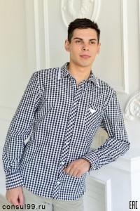 """Рубашка мужская """"Домино"""" длинный рукав"""