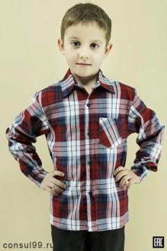 Рубашка детская, длинный рукав (шотландка)