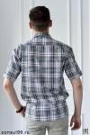 Рубашка мужская короткий рукав, 1 карман /шотландка/