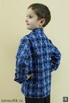 Рубашка детская (подростковая) в клетку, фланель